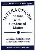 Interaction of ions with condensed matter