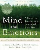 Mind and emotions : a universal treatment for emotional disorders