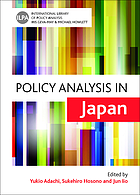Policy analysis in Japan