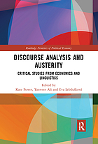 Discourse analysis and austerity : critical studies from economics and linguistics