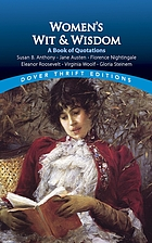 Women's wit and wisdom : a book of quotations