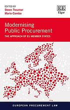 Modernising public procurement : the approach of EU member states