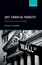 Just financial markets? : finance in a just society
