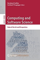 Computing and software science : state of the art and perspectives