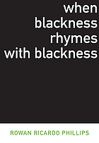 When blackness rhymes with blackness