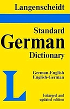 Langenscheidt's standard German dictionary : English-German, German-English