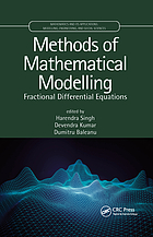 Methods of Mathematical Modelling : Fractional Differential Equations.