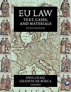 EU law : text, cases and materials
