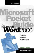 Microsoft pocket guide to Microsoft Word 2000