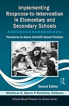 Implementing response-to-intervention in elementary and secondary schools.