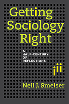 Getting sociology right : a half-century of reflections