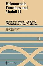 Holomorphic functions and moduli : Workshop : Papers