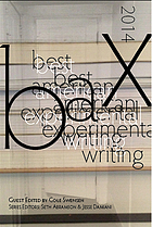 Best American experimental writing
