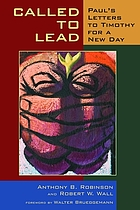 Called to lead : Paul's letters to Timothy for a new day