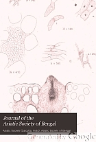 Journal of the Asiatic Society of Bengal.