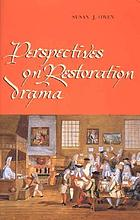 Perspectives On Restoration Drama Book 2002 Worldcatorg