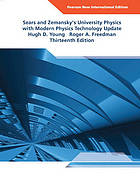 Sears and Zemanksy's university physics with modern physics technology update