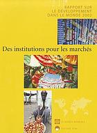 World development report : building institutions for markets.