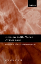 Experience and the world's own language : a critique of John McDowell's empiricism
