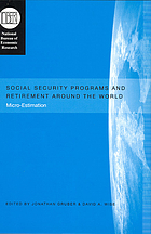 Social Security Programs and Retirement around the World Micro-Estimation
