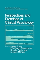 Perspectives and promises of clinical psychology