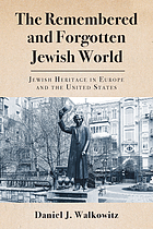 The remembered and forgotten Jewish world : Jewish heritage in Europe and the United States