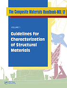 The composite materials handbook-MIL 17. Volume 1, Guidelines for characterization of structural materials.