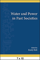 Water and power in past societies