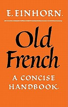 Old French : a concise handbook