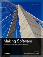 Making Software : what really works, and why we believe it