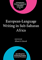European-language writing in sub-Saharan Africa