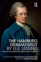 The Hamburg dramaturgy : a new and complete annotated English translation