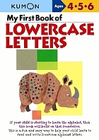 My first book of lowercase letters.
