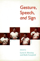 Gesture, speech and sign.
