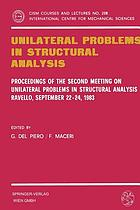 Unilateral problems in structural analysis : proceedings of the second Meeting on Unilateral Problems in Structural Analysis, Ravello, September 22-24, 1983
