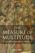 The measure of multitude: population in medieval thought