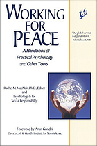 Working for peace : a handbook of practical psychology and other tools