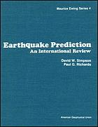 Earthquake prediction : an international review
