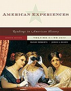 American experiences : readings in American history
