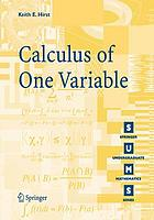 Calculus of one variable