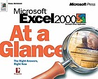 Microsoft Excel 2000 professional at a glance.