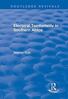 Electoral territoriality in Southern Africa
