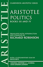 Politics. Books III and IV