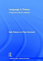 Language in theory : a resource book for students : ABCD