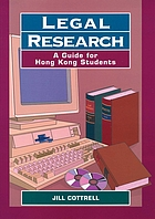 Legal research : a guide for Hong Kong students