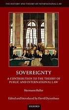 Sovereignty : a contribution to the theory of public and international law