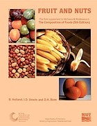 McCance and Widdowson's The composition of foods. 1st supplement, Fruit and nuts