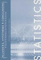 Numbers, hypotheses & conclusions : a course in statistics for the social sciences
