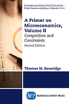 A primer on macroeconomics. Volume II, Competition and constraints