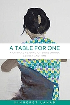 A table for one : a critical reading of singlehood, gender and time